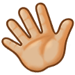 Waving Hand: Medium-Light Skin Tone on Samsung TouchWiz 7.1