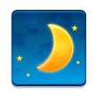 Waxing Crescent Moon on Samsung TouchWiz 7.1