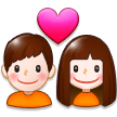 Couple With Heart on Samsung Experience 8.0