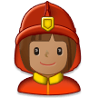 Woman Firefighter: Medium Skin Tone on Samsung Experience 8.0