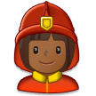 Woman Firefighter: Medium-Dark Skin Tone on Samsung Experience 8.0