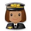 Woman Pilot: Medium Skin Tone on Samsung Experience 8.0