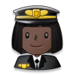 Woman Pilot: Dark Skin Tone on Samsung Experience 8.0