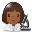 Woman Scientist: Medium-Dark Skin Tone on Samsung Experience 8.0