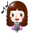 Woman Singer on Samsung Experience 8.0