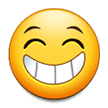 Beaming Face With Smiling Eyes on Samsung Experience 8.0