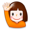 Person Raising Hand on Samsung Experience 8.0