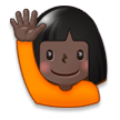 Person Raising Hand: Dark Skin Tone on Samsung Experience 8.0