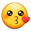 Kissing Face on Samsung Experience 8.0
