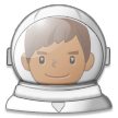 Man Astronaut: Medium-Dark Skin Tone on Samsung Experience 8.0