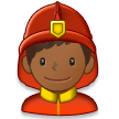 Man Firefighter: Medium-Dark Skin Tone on Samsung Experience 8.0