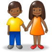 Woman and Man Holding Hands: Medium-Dark Skin Tone on Samsung Experience 8.0