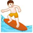 Man Surfing on Samsung Experience 8.0