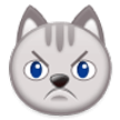 Pouting Cat Face on Samsung Experience 8.0