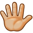Hand with Fingers Splayed: Medium-Light Skin Tone on Samsung Experience 8.0