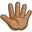 Reversed Raised Hand with Fingers Splayed + Emoji Modifier Fitzpatrick Type-4 on Samsung Experience 8.0