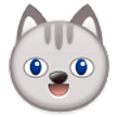 Grinning Cat Face on Samsung Experience 8.0