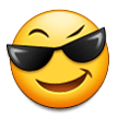 Smiling Face with Sunglasses on Samsung Experience 8.0