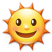 Sun with Face on Samsung Experience 8.0