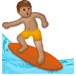 Person Surfing: Medium Skin Tone on Samsung Experience 8.0
