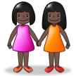 Women Holding Hands: Dark Skin Tone on Samsung Experience 8.0