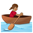 Woman Rowing Boat: Medium Skin Tone on Samsung Experience 8.0
