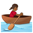 Woman Rowing Boat: Medium-Dark Skin Tone on Samsung Experience 8.0