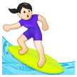Woman Surfing: Light Skin Tone on Samsung Experience 8.0