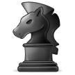 Black Chess Knight on Samsung Experience 8.1