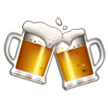 Clinking Beer Mugs on Samsung Experience 8.1