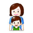 Family: Woman, Boy on Samsung Experience 8.1