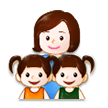 Family: Woman, Girl, Girl on Samsung Experience 8.1