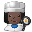 Woman Cook: Dark Skin Tone on Samsung Experience 8.1