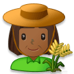 Woman Farmer: Medium-Dark Skin Tone on Samsung Experience 8.1