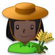 Woman Farmer: Dark Skin Tone on Samsung Experience 8.1