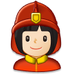 Woman Firefighter: Light Skin Tone on Samsung Experience 8.1
