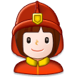 Woman Firefighter on Samsung Experience 8.1