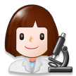 Woman Scientist on Samsung Experience 8.1
