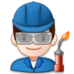 Man Factory Worker on Samsung Experience 8.1