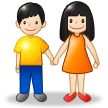 Woman and Man Holding Hands: Light Skin Tone on Samsung Experience 8.1