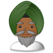 Man Wearing Turban: Medium-Dark Skin Tone on Samsung Experience 8.1