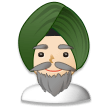 Person Wearing Turban: Light Skin Tone on Samsung Experience 8.1