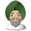 Person Wearing Turban: Medium-Light Skin Tone on Samsung Experience 8.1