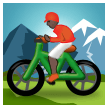 Person Mountain Biking: Dark Skin Tone on Samsung Experience 8.1