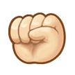 Raised Fist: Light Skin Tone on Samsung Experience 8.1