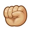Raised Fist: Medium-Light Skin Tone on Samsung Experience 8.1