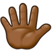 Hand with Fingers Splayed: Medium-Dark Skin Tone on Samsung Experience 8.1