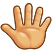 Reversed Raised Hand with Fingers Splayed on Samsung Experience 8.1