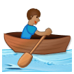 Person Rowing Boat: Medium Skin Tone on Samsung Experience 8.1