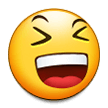 Grinning Squinting Face on Samsung Experience 8.1